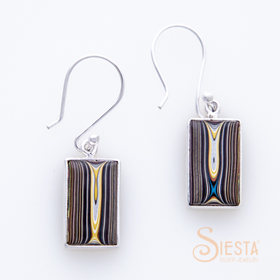 Siesta Silver Corvette Paint Earrings on Hook