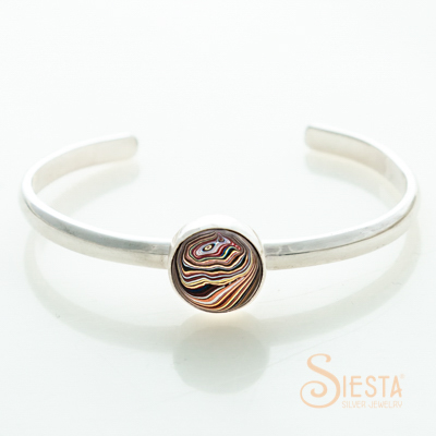 Sterling Silver Simply Smooth Corvette Bangle