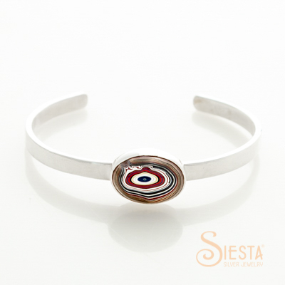 Sterling Silver Hot Rod Corvette Paint Bangle