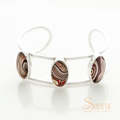 Sterling Silver Triple Deuce Corvette Bangle