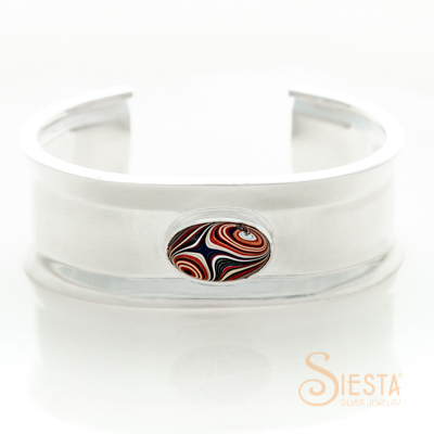 Sterling Silver Rim N Rail Corvette Paint Bangle