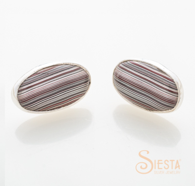 Fordite or Detroit Agate Post Earrings