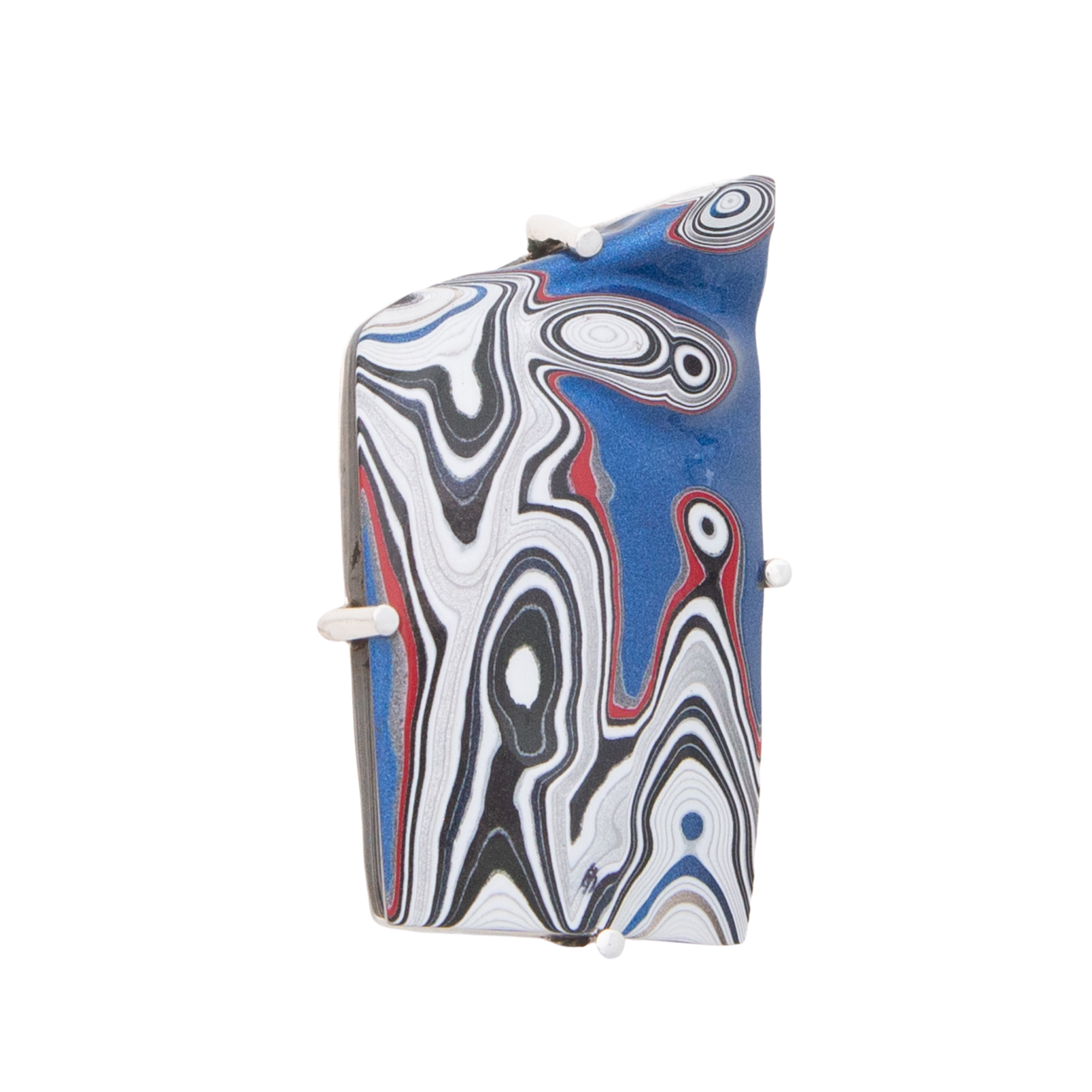 Fordite Pin and Pendant in Sterling Silver